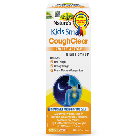 Nature's Way Kids Smart Cough Clear Triple Action Night Syrup